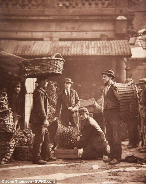 'Covent garden labourers', London.