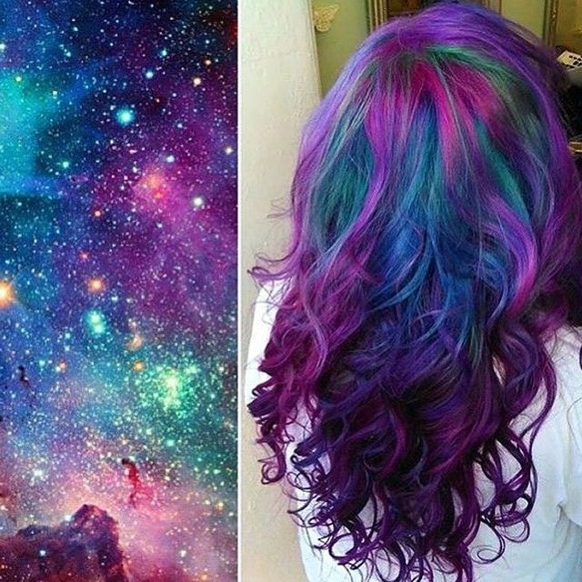 Apparently rainbow hair has been replaced by galaxy hair - and i dig it!