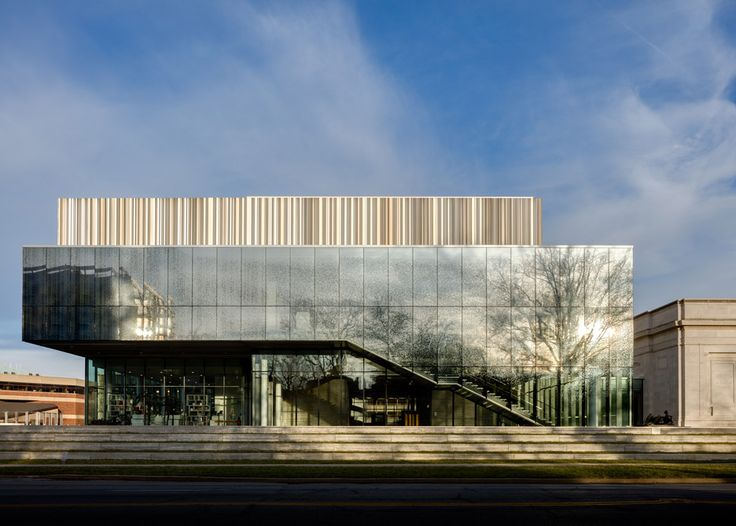 Los Angeles architecture firm wHY has completed an expansion of the Speed Art Museum in Louisville, Kentucky, featuring facades of fritted glass and corrugated metal panels