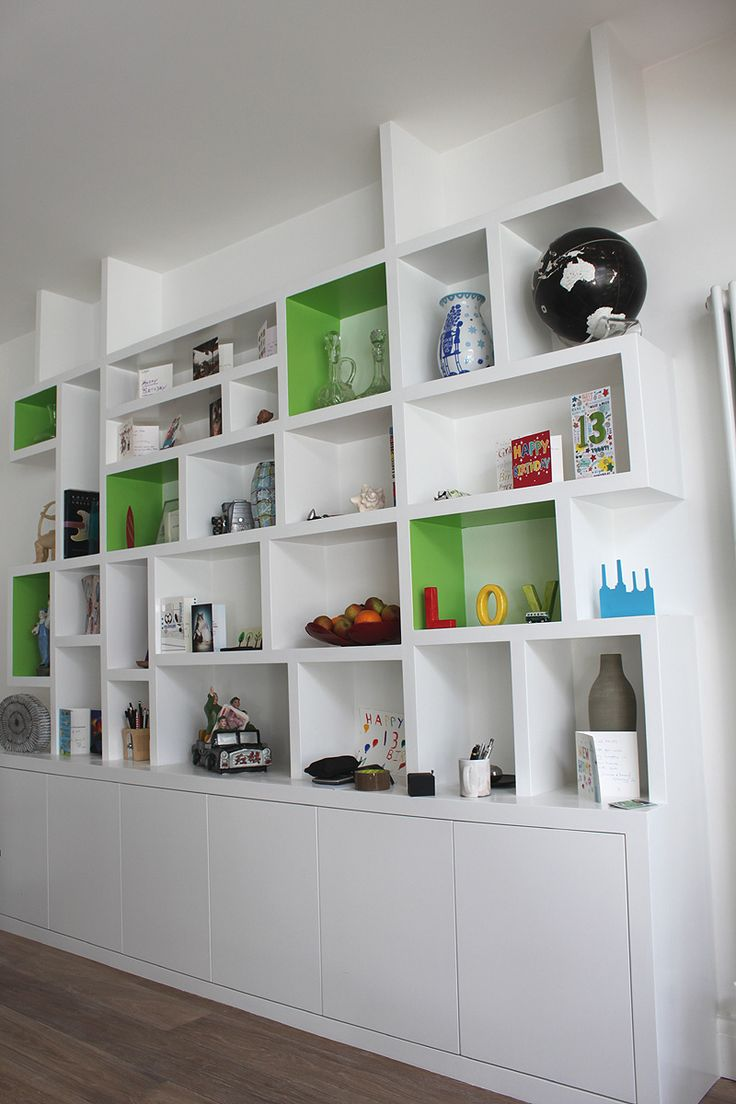 Would like to use this design for some of the box shelves within the alcove with handleless cupboard top and bottom