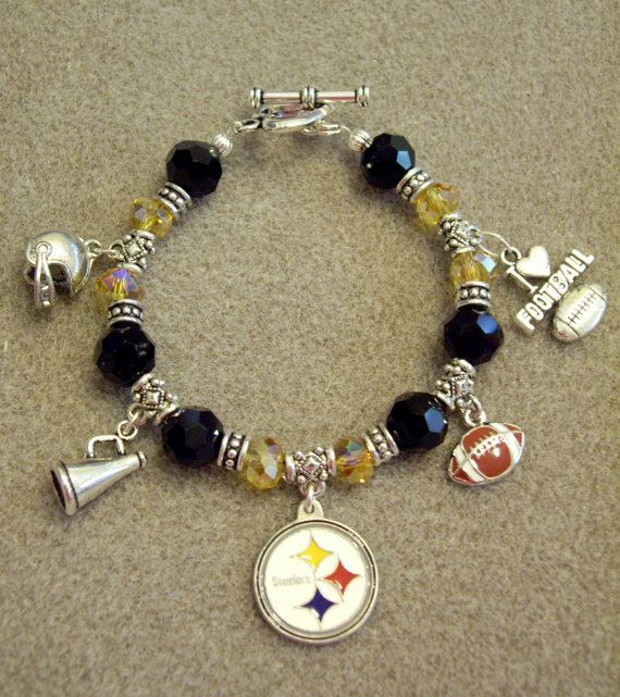 Pittsburgh Steelers Nfl Dangle Charm Bracelet With By Dazzles 34 99 Pinterest And