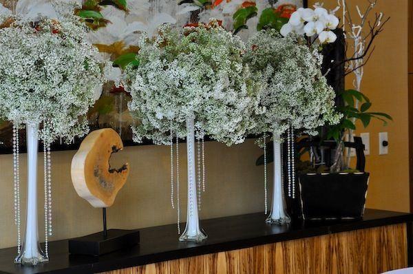 babysbreath wedding flowers | Baby's Breath Wedding Trend - Winter White Florals - How-to Wire ...