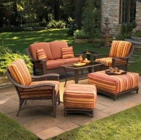 17 best images about backyard furniture on pinterest fabric covered backyards and backyard - Deck furniture ideas ...