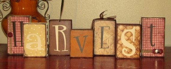 Harvest Decorative Wood Blocks.  Maybe with thank you on it instead?