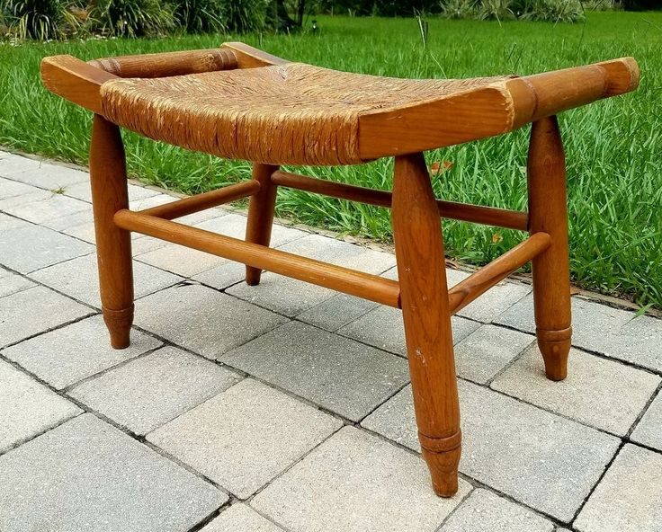 Ottoman FootStool Foot stool rush seat arts & crafts/Mission Oak  Craftsman  | Home & Garden, Furniture, Ottomans, Footstools & Poufs | eBay!
