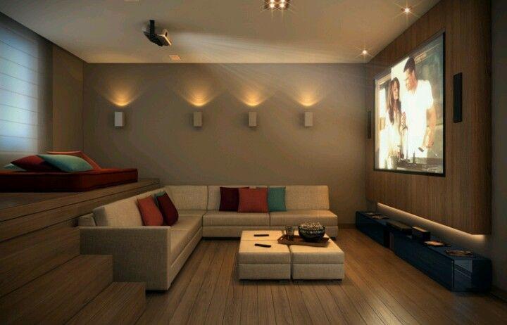 Sala de Tv e Vídeo  Home interior  Pinterest