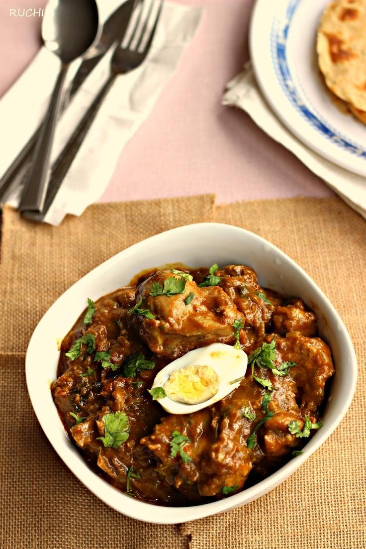 RUCHI: Hydrebadi Chicken curry