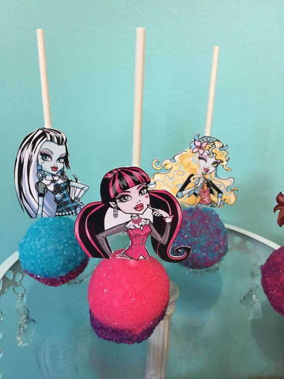 Monster High Cake Pops by KnowAnOrdinaryMom on Etsy