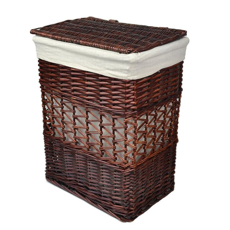 70 amazoncom rurality vintage wicker laundry basket with lid and cotton liner