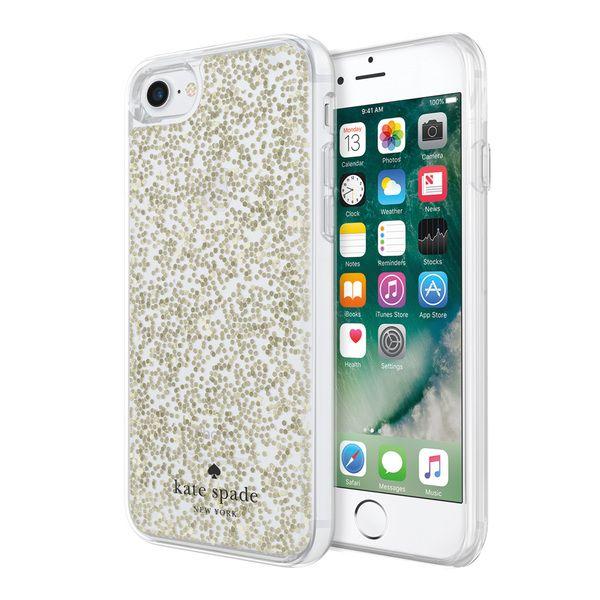 Apple Iphone 7 Incipio Kate Spade New York Clear Glitter Case Gold Glitter Iphone Glitter Case Iphone 7 Gold