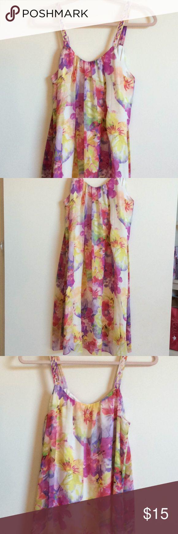 Summer dress Sleeveless multi color flower dress charlie jade Dresses Midi