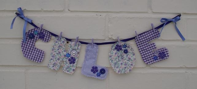 Childrens Name Bunting - Folksy