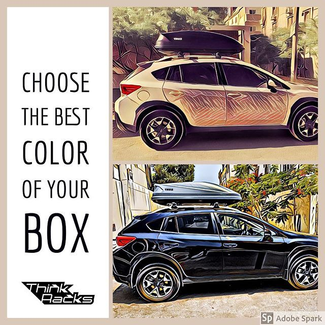 Do You Know That The Contrast In Colors Between Roofbox And Car Is The Best To Show The Beauty Of Both Thule Think Racks Travele Car Best Contrast