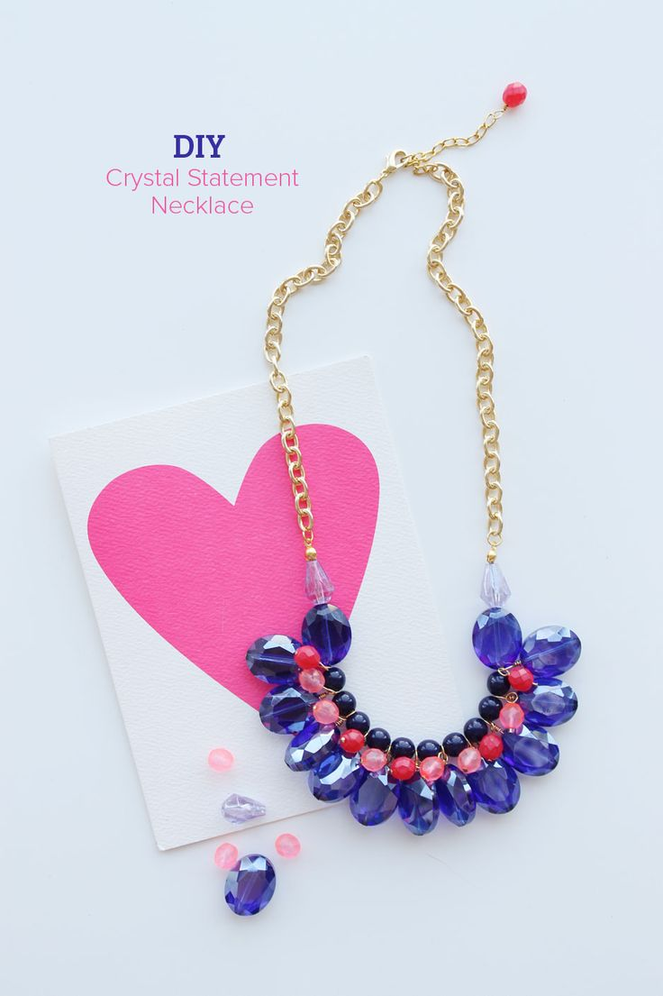 DIY : Crystal Statement Necklace