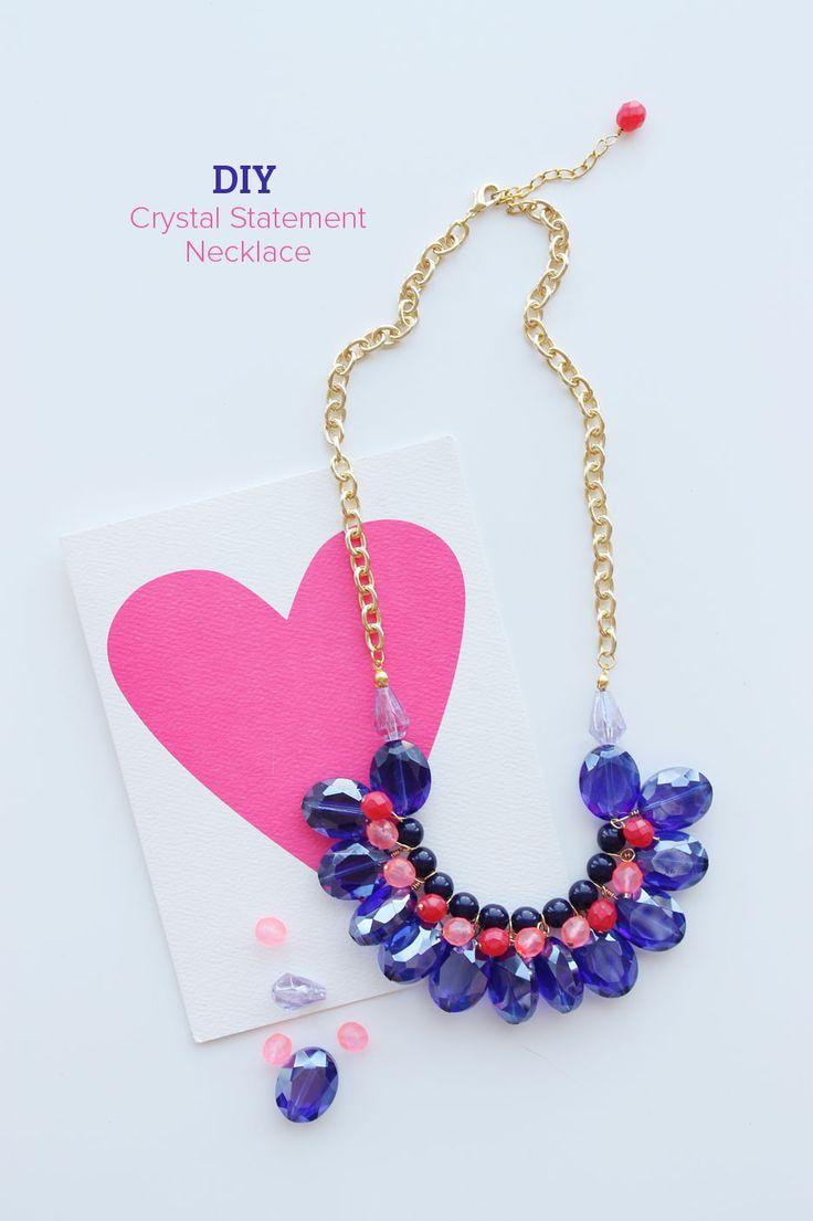 DIY : Crystal Statement Necklace