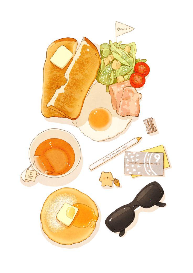 Breakfast ~ hamsin illustration
