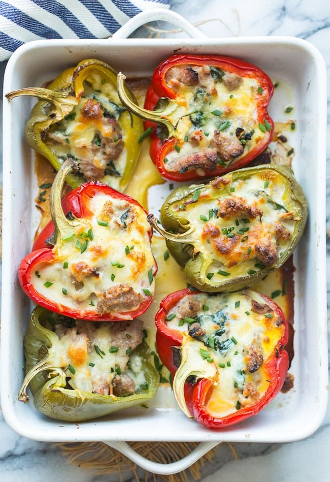 Breakfast Stuffed Bell Peppers Recipe Stuffed Bell Peppers Stuffed Peppers Low Carb Stuffed Peppers