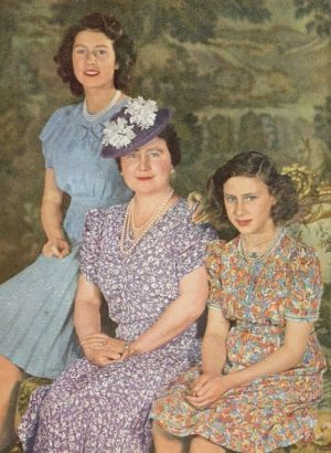 Princess Elizabeth, Queen Elizabeth, Princess Margaret, 1944