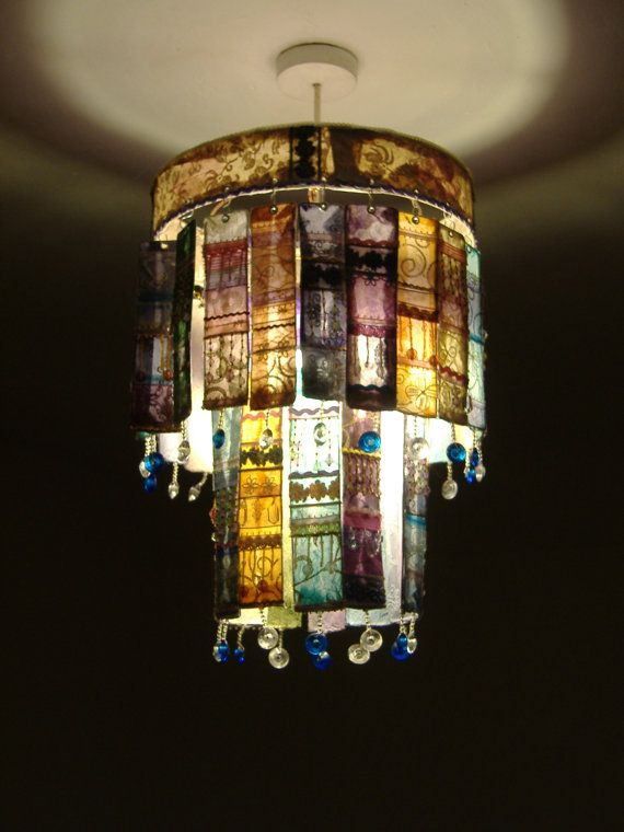 Panel And Bead Chandelier By Louisetraill On Etsy