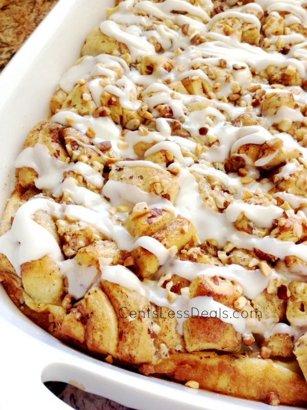 Cinnamon Roll French Toast Casserole recipe. This is sooo easy and delicious!! People will think you've slaved for hours over this! They'll never know it only took 5 minutes to throw together :)