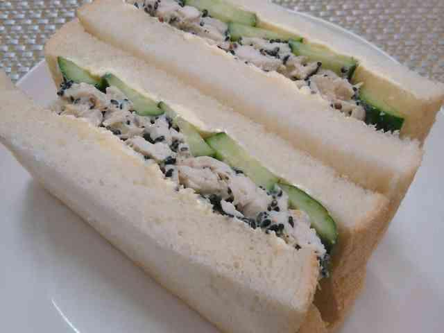 ササミのごまマヨ♡サンドイッチの画像