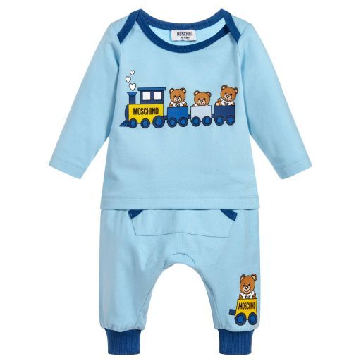 ecee72a08 Moschino Baby - Blue Cotton Jersey Outfit