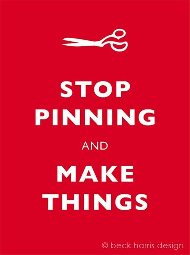 Less pinning - more sewing