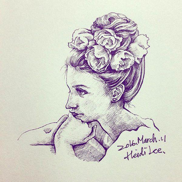 #illustration #flowers #ink #art