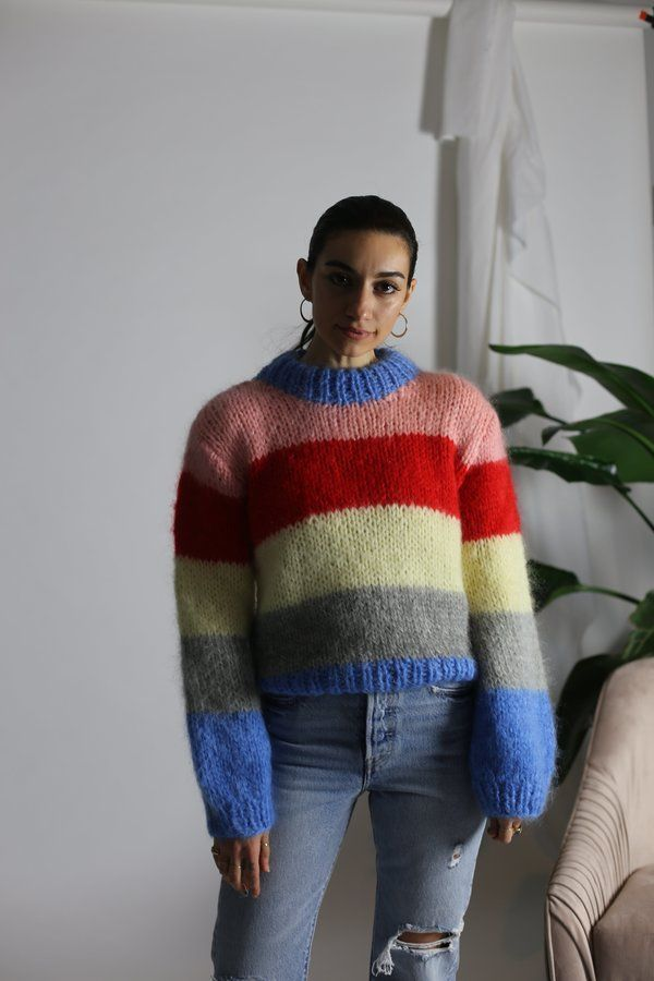 b849a62a63c1 Ganni Julliard Mohair Pullover - Block Colour