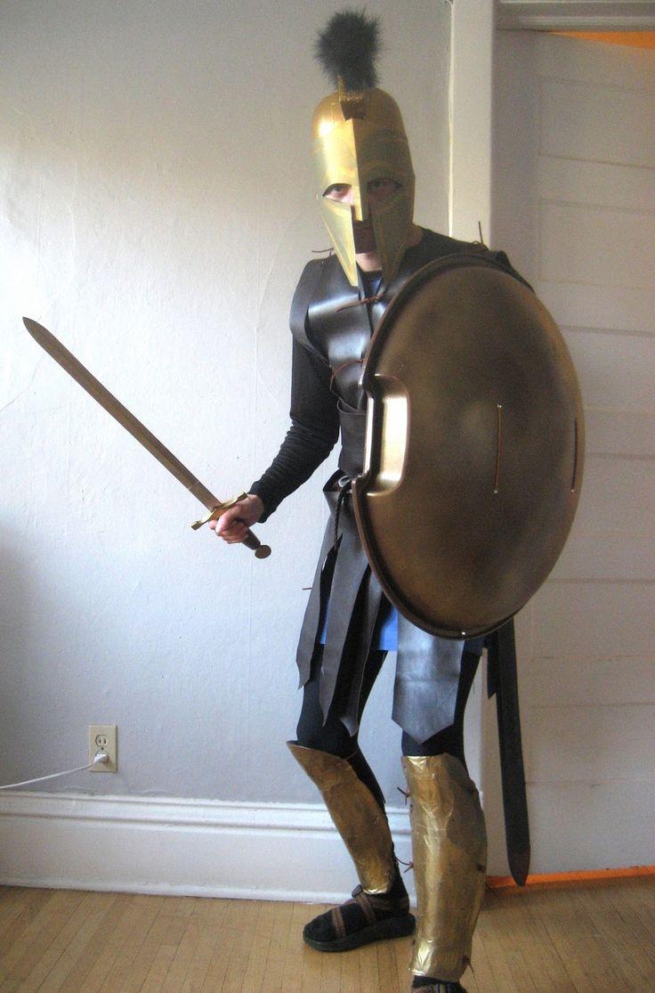 Chuck Does Art Diy Spartan Hoplite Costume How To Make A