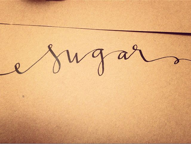 Sugar and chic modern calligraphy hand lettering