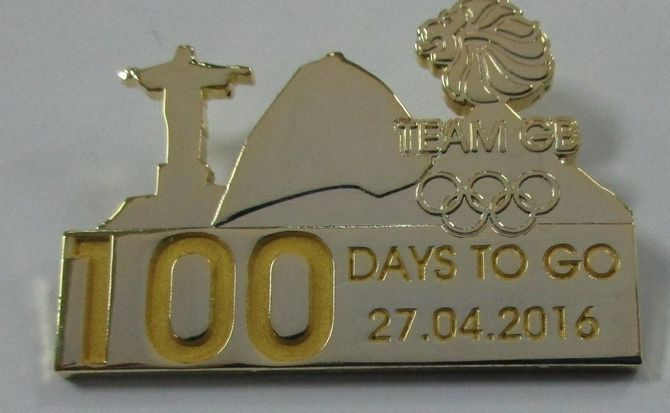 100 Days To Go - Limited Edition Team GB Rio 2016 Olympic Pin