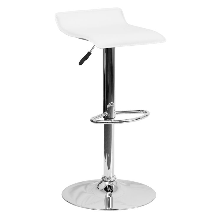 Flash Furniture Black Vinyl Adjustable Height Bar Stool with Base