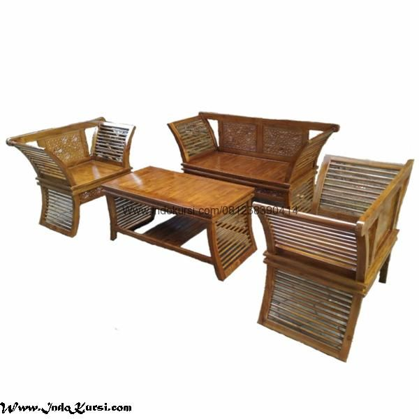JualKursi Tamu Lengkung Jari Jarimerupakan Produk Furniture Desai Ruang Tamu Minimalis dengan Model Modern dengan bahan Kayu Jati Model Jari Jari Lengkung