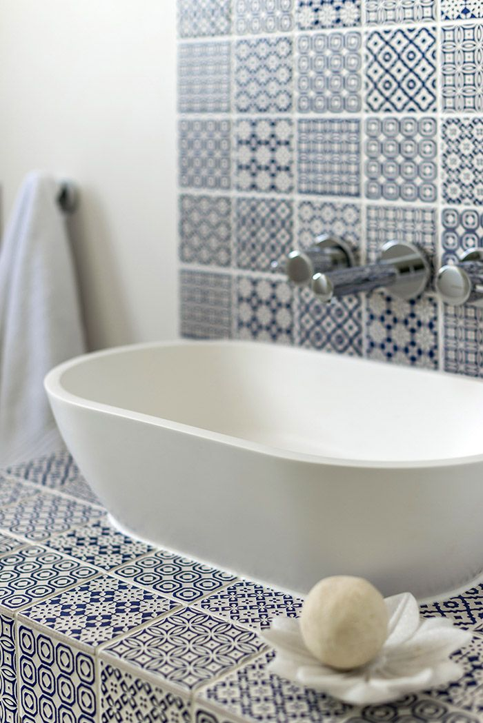 melinda boundy designs blue and white mosaic