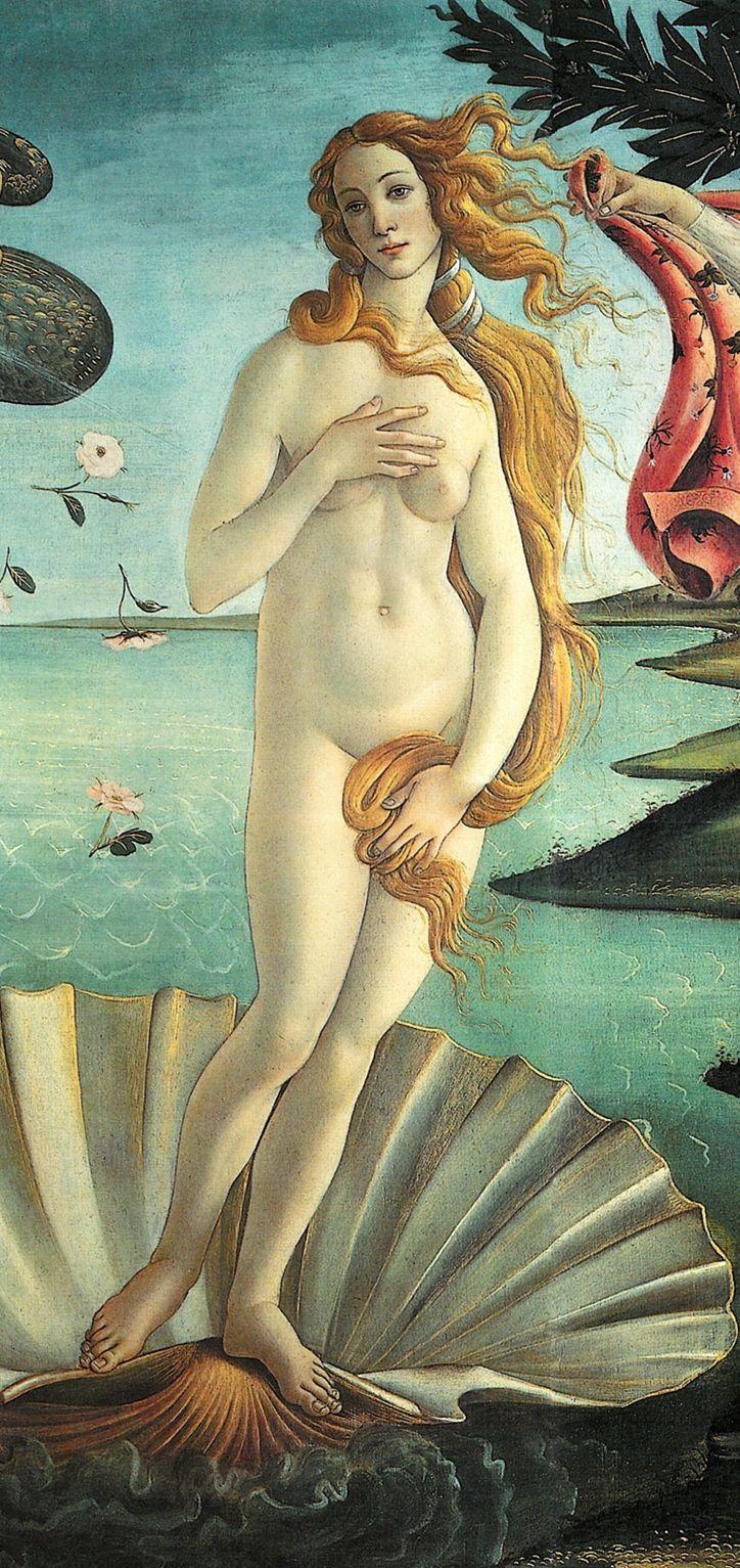 tratto da La nascita di Venere del Botticelli  conservato nella Galleria degli Uffizi a Firenze.