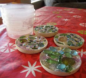 Home made stepping stone craft. Very easy.