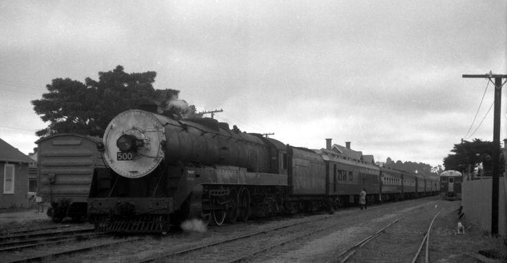 500 class broad gauge mountain loco, South Australia. 1960's