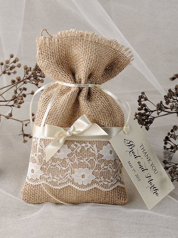 Custom listing 20 Lace Rustic Favor Bags by forlovepolkadots