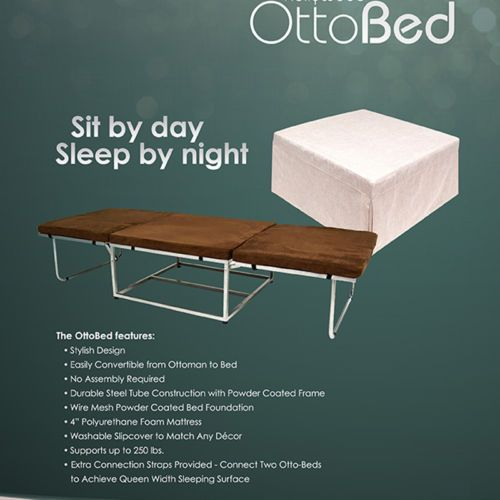 Fold Out Convertible Steel Tube Cot Sleeper Ottobed Ottoman Sofa Bed w Mattress | eBay