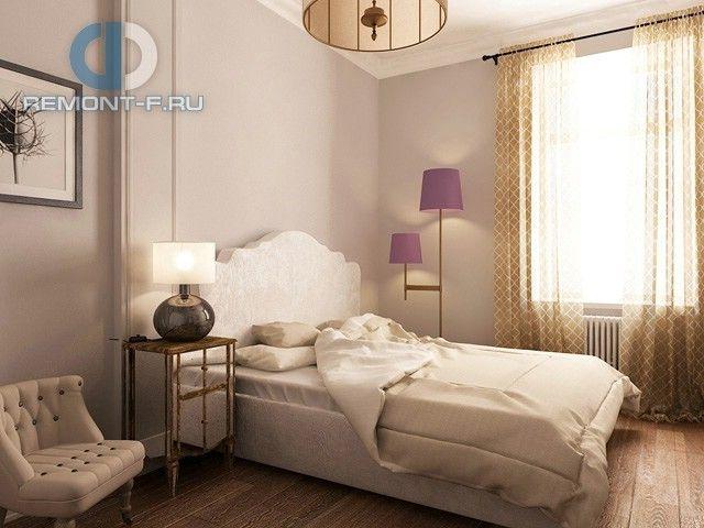 Спальня в светлых тонах в квартире