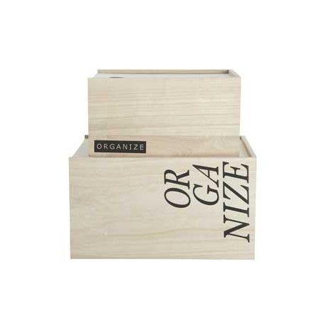 """Opbevaringskasse """"Organize"""" - Lækre trækasser til opbevaring fra House Doctor.  Brug dem til opbevaring af fx smykker, makeup. legetøj og andre småting.  Findes i to varianter : S og L"""