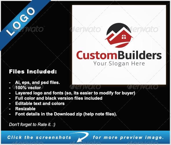 Custom Builders Logo - Buildings Logo Templates