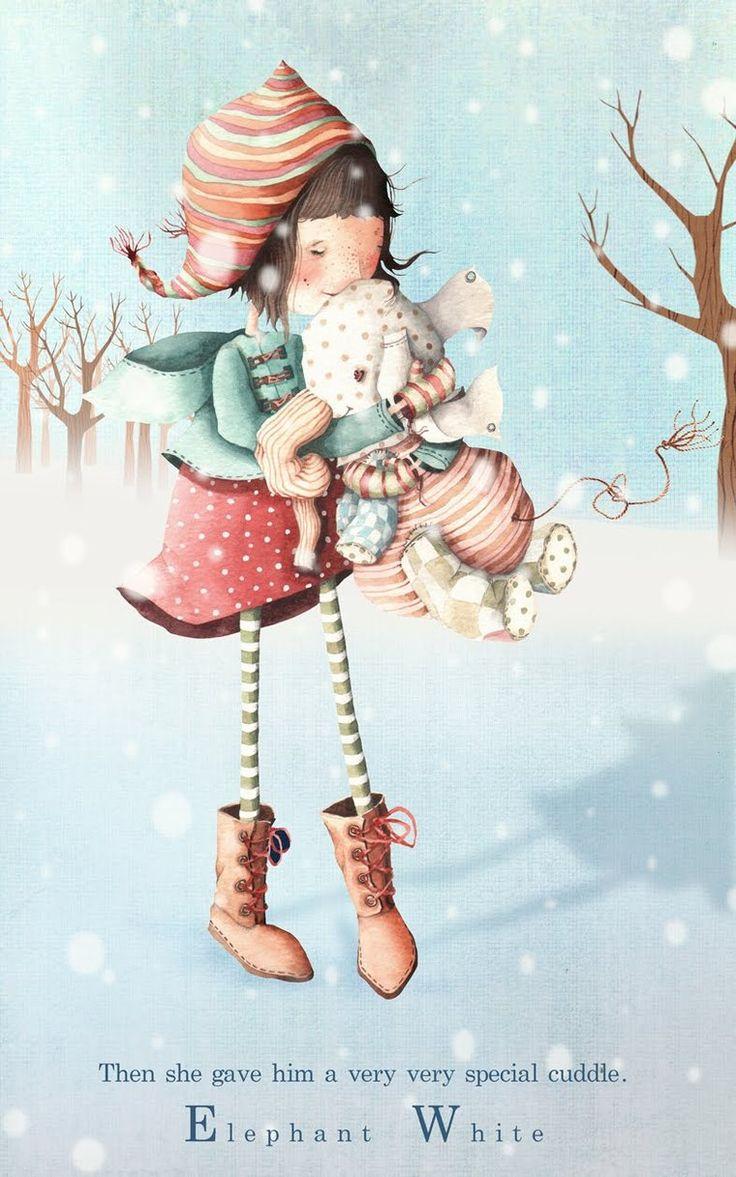 """Волшебный мир под названием """"Детство"""" в иллюстрациях Холли Клифтон-Браун"""
