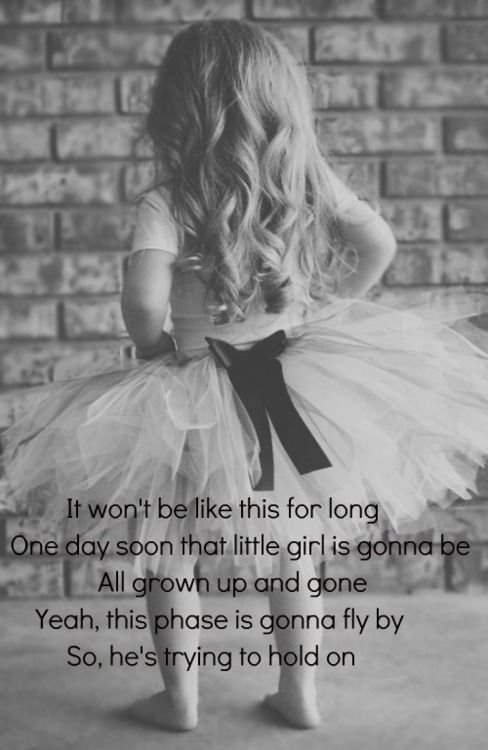 It Won't Be like This For Long - Darius Rucker - Such a sweet song.  Children grow up way too fast!  Enjoy each and every moment that God gives you with them.