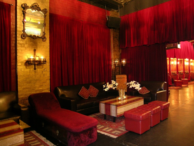 Sixteen Ellis Street - South Yarra is located in the discreet back lanes off Chapel Street. A raw warehouse transformed with vintage chandeliers, leather couches, red velvet drapes & intimate booths. Just beautiful!