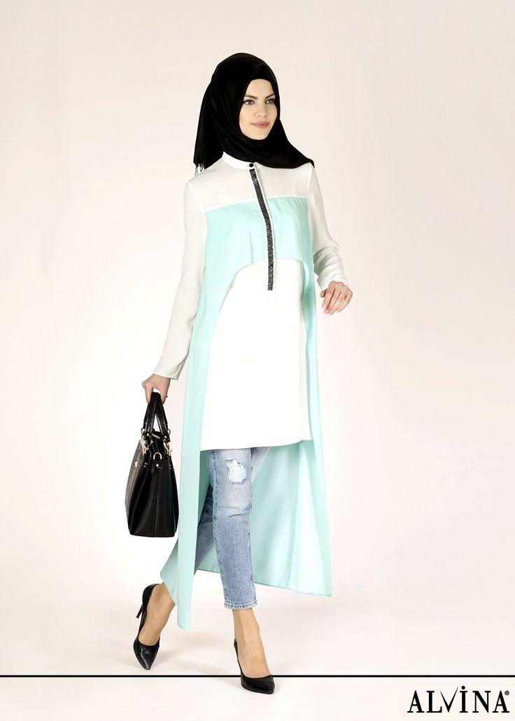 ALVİNA '15 Yaz Kreasyonu 4620 Alya Tunik, www.alvinaonline.com'da.. #alvina #alvinamoda #alvinaforever #hijab #hijabstyle #yenisezon #ilkbahar #yaz #newcollection #tesettür #moda #fashion #tunik