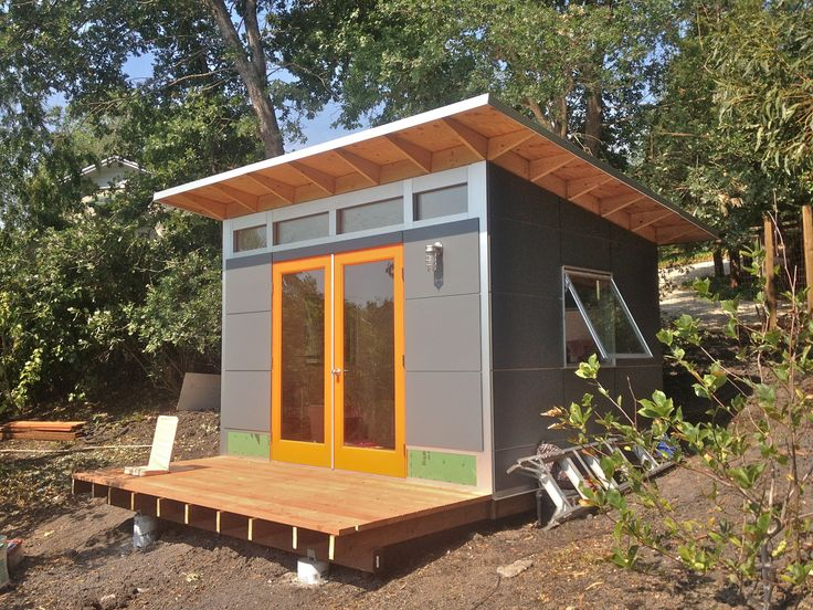 Best 25 prefab sheds ideas on pinterest for Modern garden shed designs