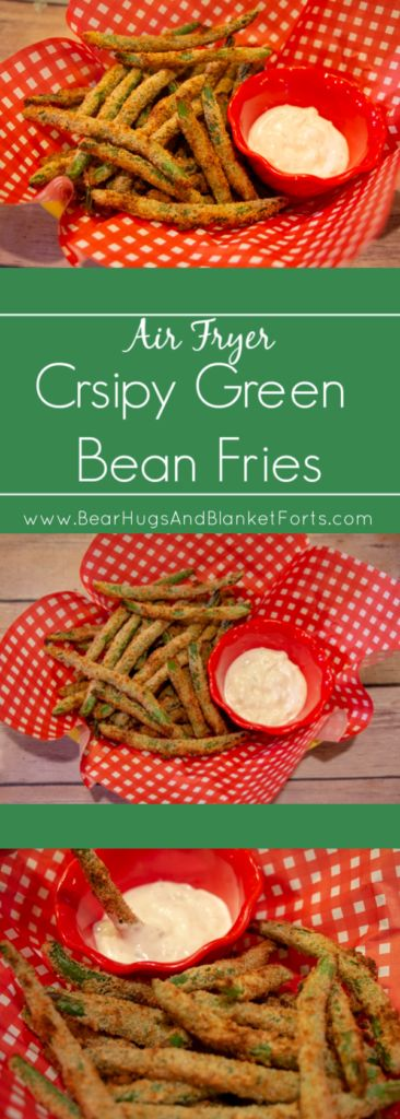 Easy to make and deliciously crispy, these Air Fryer Green Bean Fries are a perf…