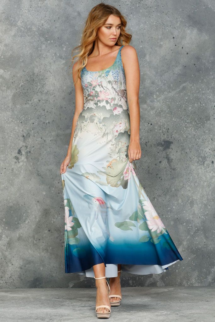 Don't Be Koi Maxi Dress - LIMITED (AU $140AUD) by BlackMilk Clothing